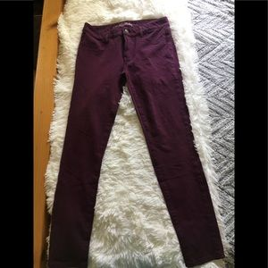 American Eagle Outfitters- Maroon jeggings